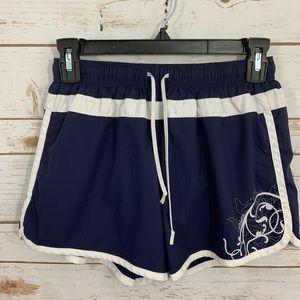Athleta Navy White Hana Run Athletic Shorts XS